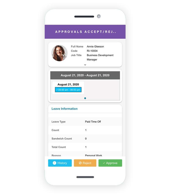 Employee check in check out app